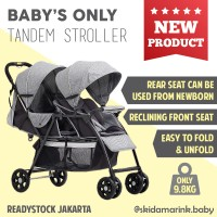 Baby's Only T2 Tandem Stroller Lightweight Double Twin Baby Kembar