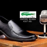 Sepatu Kulit Pria Crocodile Swedia Pantofel