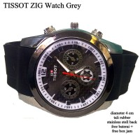 harga Jam Tangan Pria Tissot Zig Metalik Silver Rubber Tokopedia.com
