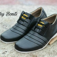 sepatu country boots casual black originla handmade