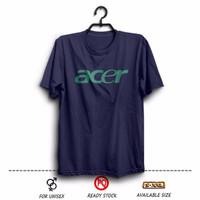 Kaos XXXL Distro ACER logo ( Laptop Notebook ) warna Biru Dongker
