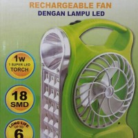 VDR V-5600EF Emergency 3 In 1 Kipas Angin Tenteng + Lampu Led + Senter