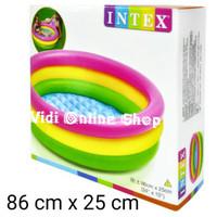 Intex Kolam Renang Pompa / Mandi Bola Anak (Ukuran 86 cm x 25 cm)