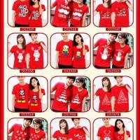 kaos couple natal | baju couple natal merah | kostum natal | seragam