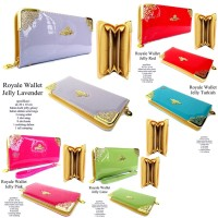 DOMPET WANITA IMPOR ROYALE WALLET JELLY ALL COLOUR