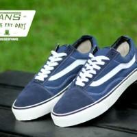 Sepatu Pria Vans Old Skool Navy Waffle IFC Kets Casual Sneakers Kuliah