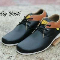 Sepatu Pria Country Boots Rade Black Tan Formal Casual Kerja Kantor