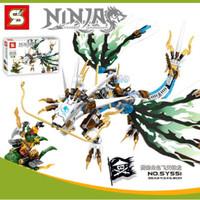 Lego Kw Ninjago Thunder Lightening Flying Pirate White Dragon SY 551 -