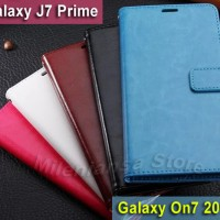 Flip Cover Samsung Galaxy J7 Prime, On7 2016 Leather Case
