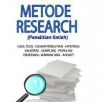 Metode Research (penelitian ilmiah), Prof Dr S. Nasution, M.A