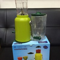 Destec Blender Tangan Manual 2 Tabung Gelas Mixer Juicer