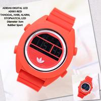 Jam tangan digital adidas nixon LED tali rubber sporty grosir termurah