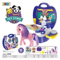 Mainan Anak Perempuan Dream Petshop Kuda Poni Little Pony Beauty Koper