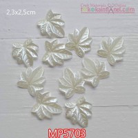 MP5703 Mote Pear Daun Gurat Sirip 7 uk 2.3x2.5cm (1 Bks isi 12)