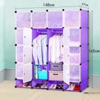 Jual lemari portable wardrobe baju pakaian sepatu kotak plastik anti debu Murah