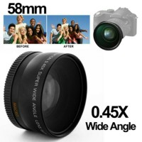 Lensa Super Wide Angle Lens with Macro 58mm for Canon
