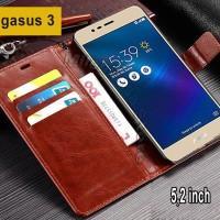 Flip Cover Asus Zenfone Pegasus 3 Leather Case Wallet Card