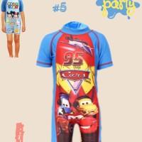 Swimwear Baju Renang Anak Cars McQueen Usia 3-7 tahun