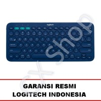 Logitech K380 Multi Device Bluetooth Keyboard - Biru