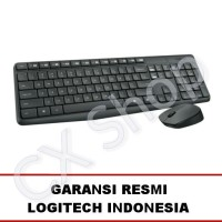 Logitech Wireless MK235 Combo Keyboard + Mouse (BLACK) - Garansi Resmi