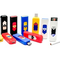 USB Rechargeable Lighter / korek api elektrik USB S SUPERMAN