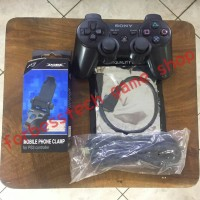 PAKET HEMAT ( Stick PS3 + Usb Cable + Micro OTG + Mobile Clamp )