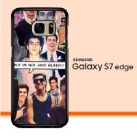Jack Gilinsky Collage F0116 Samsung Galaxy S7 Edge Custom Case Cover