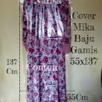 Mika Plastik Cover Pelindung Baju Pakaian 55x137