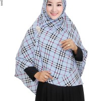 Jilbab Syiria, Khimar Burberry Bubble Pop 684