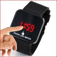 Jam Tangan Silicone LED Flash Touch Layar Sentuh