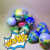 Mainan Anak Edukasi Telur Isi Kejutan/Surprise Egg/Telor Knocker Ball