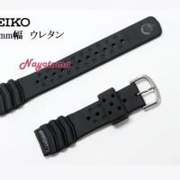20mm Seiko Black Rubber Strap DB70BP for jam Seiko Diver Tali jam