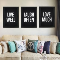 Jual Satu Set Home Decor - Isi 3 poster - Live Well Laugh Often Love Much Murah