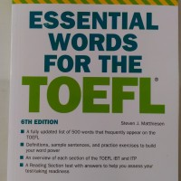 Barrons Essential Words for the TOEFL, 6th Edition