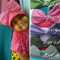 Jilbab Syria Mickey / Kerudung Anak / Hijab Baby / Khimar