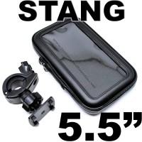 Bracket Holder Waterproof 5.5 Inch Stang Motor Sepeda Bike Hp Gps 5,5