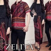 Couple Kebaya Zelita Baju Pasangan Kondangan Batik Cantik Murah A032