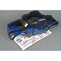 RC CAR BODY WITH DECAL (BLACK BLUE) FOR MONSTER/TRUGGY 1/8