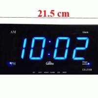 Jam Digital LED CX-2159, LED Digital Clock 21.5x10cm (LED Biru)
