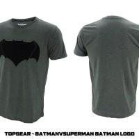 Jual T-SHIRT / KAOS SUPERHERO BATMANVSUPERMAN BATMAN LOGO Murah