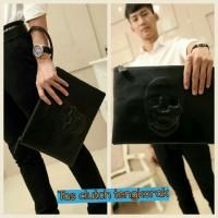 harga Tas Tangan Clutch Tengkorak Leather Skull Tokopedia.com