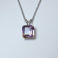 (A0018) Natural Ametrine Pendant In Sterling Silver