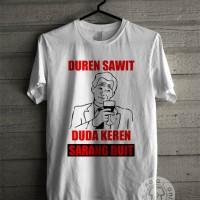 Kaos Distro Duren Sawit Duda Keren Banyak Duit