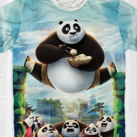 harga Baju Distro - T-shirt -Baju kungfu panda-panda-split Tokopedia.com