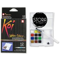 SAKURA KOI WATERCOLORS 12 COLOR SKETCH POCKET BOX SET