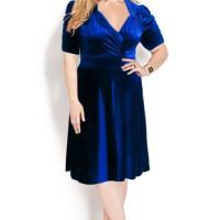 harga Vintage Looks Velvet Dress pakaian wanita ukuran besar(big size)bss230 Tokopedia.com