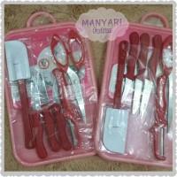 Set Peralatan Masak (talenan,pisau,spatula,gunting) - Sarah Cooking