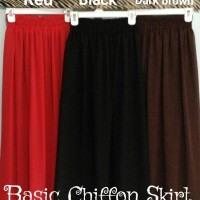 harga High Quality Chiffon Skirt / Rok Sifon Berkualitas Tokopedia.com