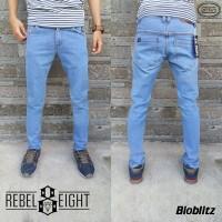 Celana Jeans Slimfit Biru Muda Rebel Eight - Skinny Bioblizt - Rebel 8