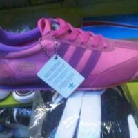 sepatu murah adidas dragon pink lis ungu + box